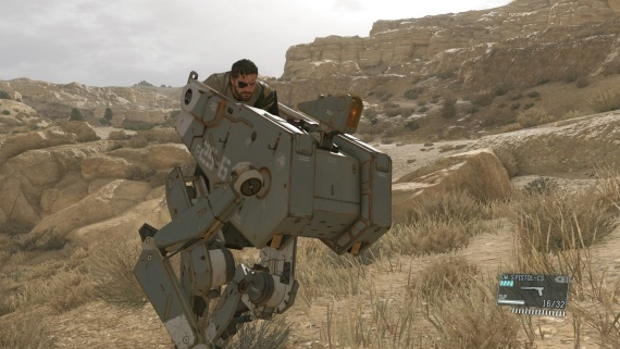 Nový záber z Metal Gear Solid V ukazuje Snakea na mechovi