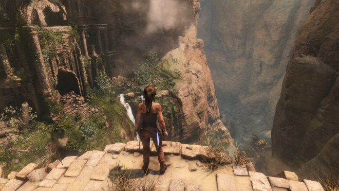 PC gameplay zábery z Rise of the Tomb Raider