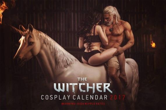 Witcher dostal cosplay kalendár na rok 2017