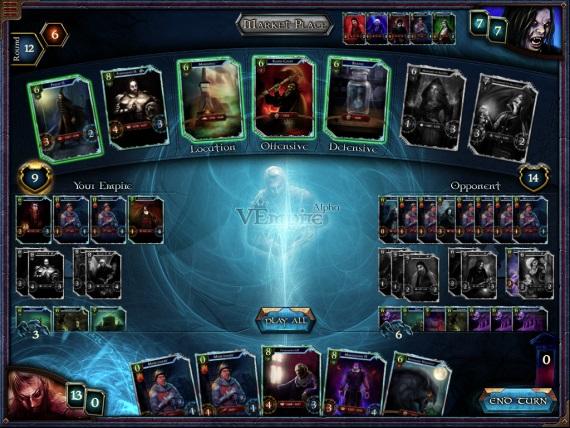 VEmpire - temná kartová hra bez nakupovania balíčkov