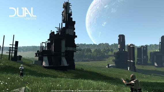 Ambiciózne Dual Universe predvádza svoj voxelový engine