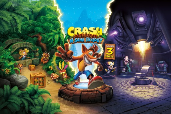 Ukážka Future Frenzy levelu z Crash Bandicoot N. Sane Trilogy