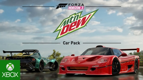Forza Horizon 3 predstavuje Mountain Dew Car Pack