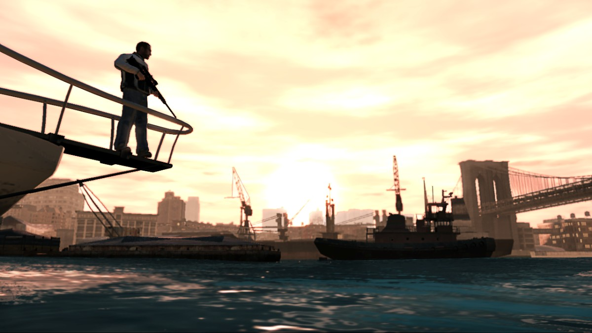 Grand Theft Auto IV I am king of the World... len aj so zbraňou.