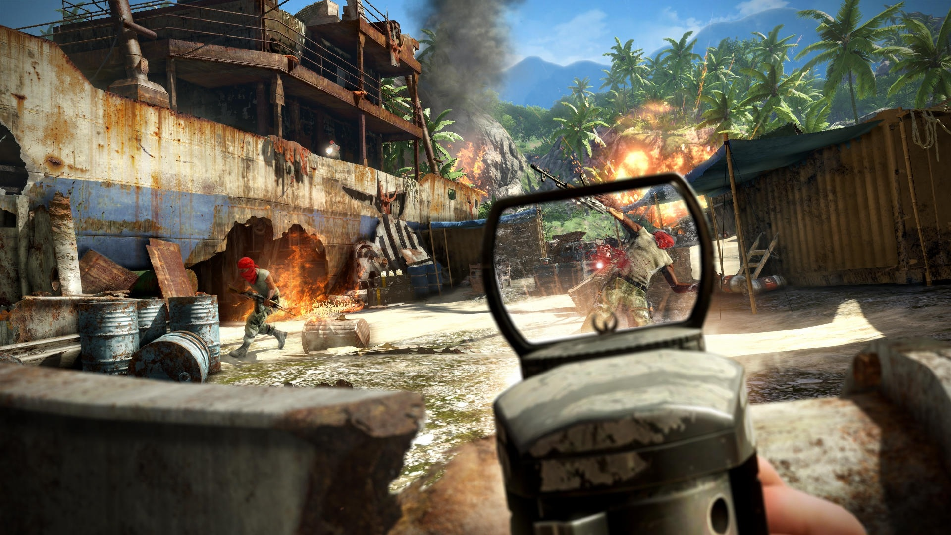 Far Cry 3 More, palmy a projektily.