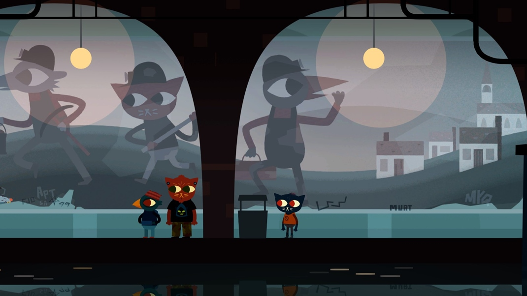 Night in the Woods Vizuál si okamžite zamilujete.