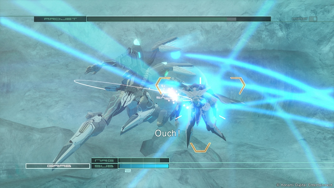 Zone of the Enders: The 2nd Runner MARS Akcia zblízka je jednoduchá.