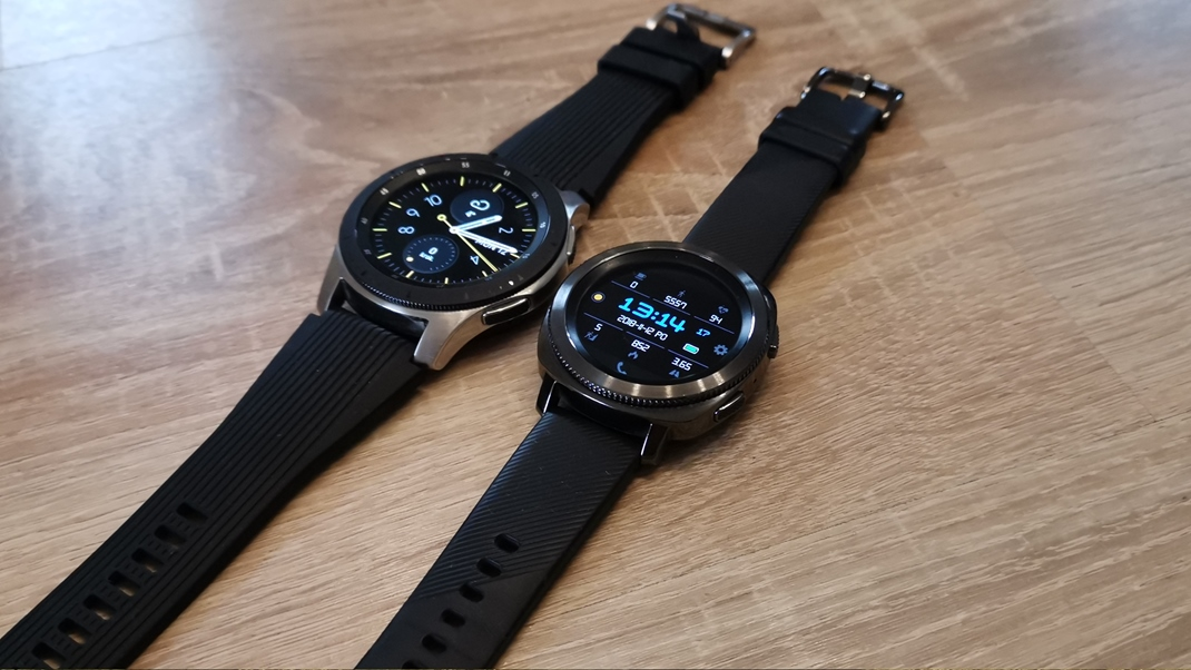 Samsung Galaxy Watch  Porovnanie Galaxy Watch a Gear Sport.