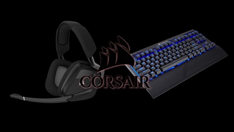 Corsair Void Pro RGB / K63 s lapboardom