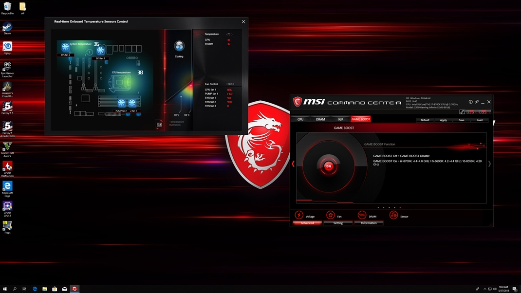 MSI Infinite X desktop + MSI Optix monitor